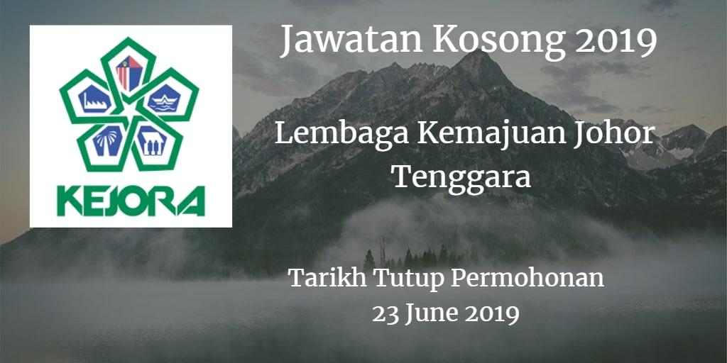 Jawatan Kosong KEJORA 23 June 2019