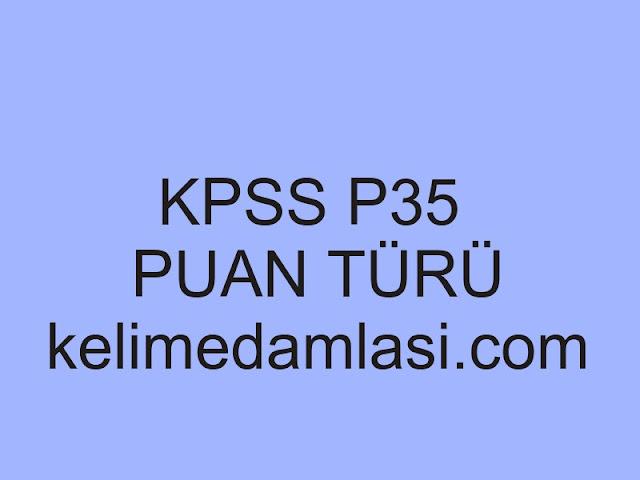 kpss p35 puan türü
