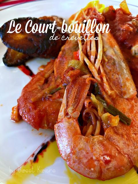 sweet kwisine, court-bouillon, crevette, martinique, guadeloupe, cuisine antillaise, caraïbe, cuisine créole