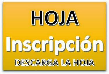 HOJA DE INSCRIPCIÓN