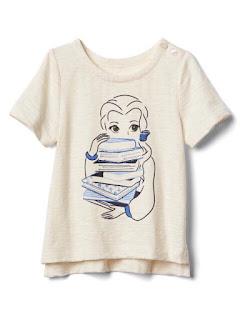 Áo thun bé gái babyGap xịn đét made in cambodia, họa tiết 3D thêu rất đẹp, size 1-5T.