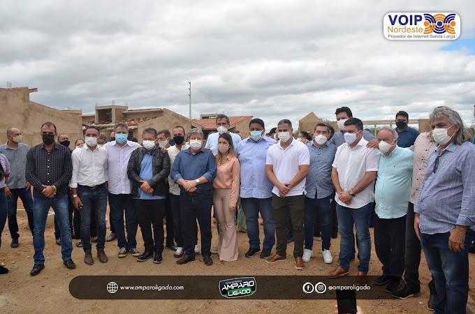 Prefeito Inácio Nóbrega e Vice Cícero Maciel acompanham comitiva do Governador João Azevedo ao cariri paraibano