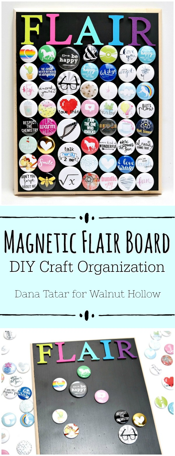 DIY Magnetic Flair Board Tutorial by Dana Tatar