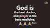 God is the best doctor!