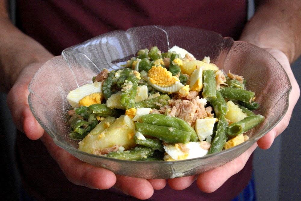 Ensalada de jud as verdes y patata las maria cocinillas - Ensalada de judias verdes arguinano ...