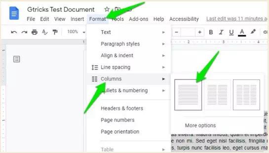 Cara Membuat Tulisan Kolom Koran di Google Documents-5