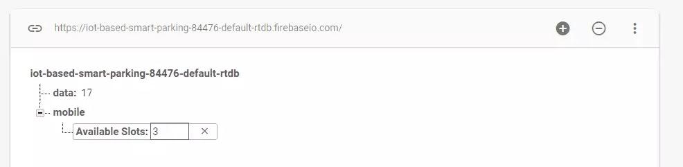 Firebase database link