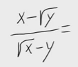 51.Racionalización (Con sumas o restas de raíces en denom.)