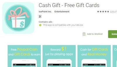 Cash Gift Aplikasi Android