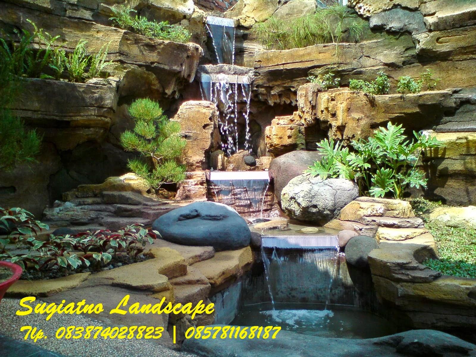 Wallpaper Batu Alam 3d Desain Kolam Relief Cadas Air Terjun Tukang Taman