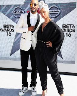AliciaKeys and husband Swizz Beatz at BET Awards 8888