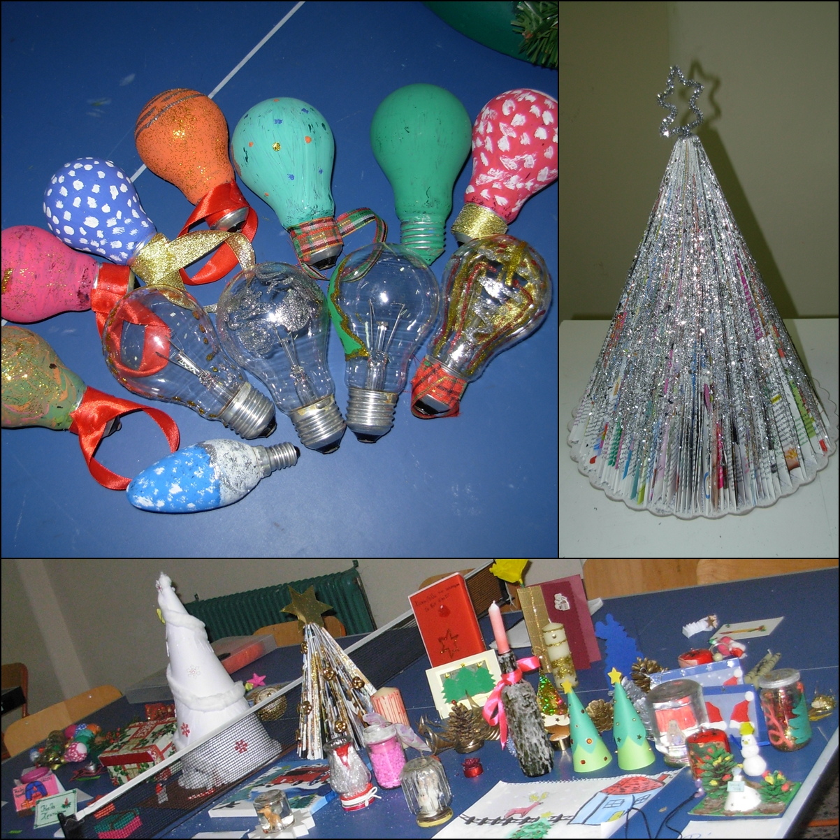 Christmas Crafts To Sell At Bazaar.Respect Reduce Reuse Recycle Having Fun While Recycling