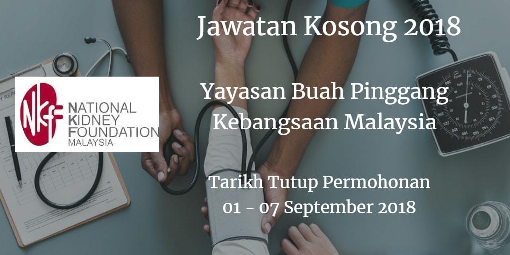 Jawatan Kosong NKF 01 - 07 September 2018