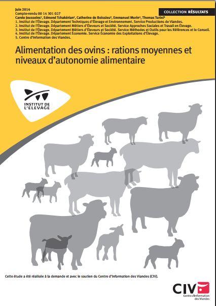 Alimentation des ovins  rations moyennes etniveaux d'autonomie alimentaire - WWW.VETBOOKSTORE.COM