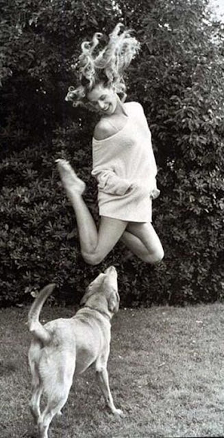 Nastassja Kinski and her dog