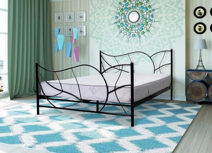 Кровать металлическая Осенний лист 120х190/200 ТМ Мадера