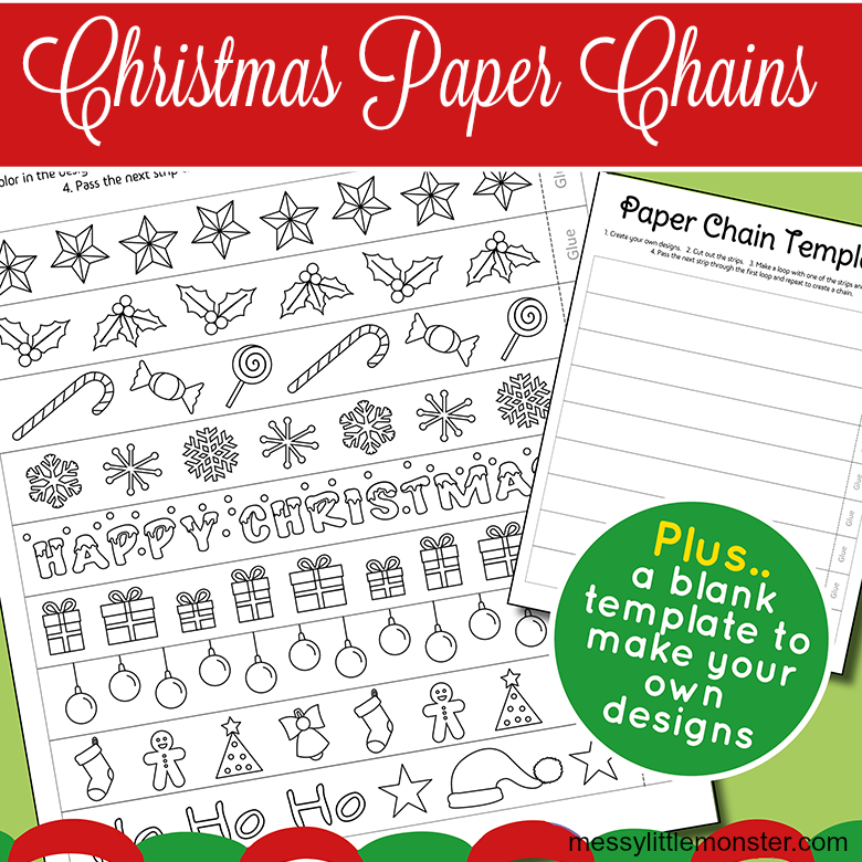 Printable Christmas Paper Chain Template