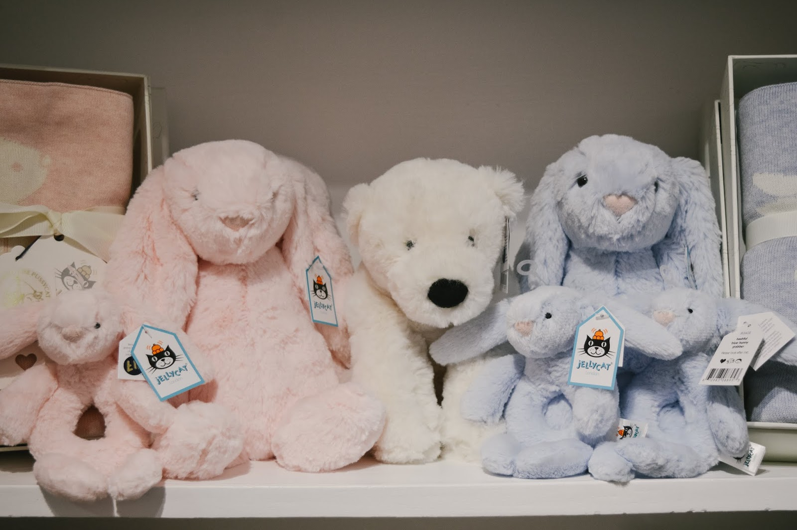 Jellycats at The Owl & The Pussycat Stockbridge Childrens Boutique