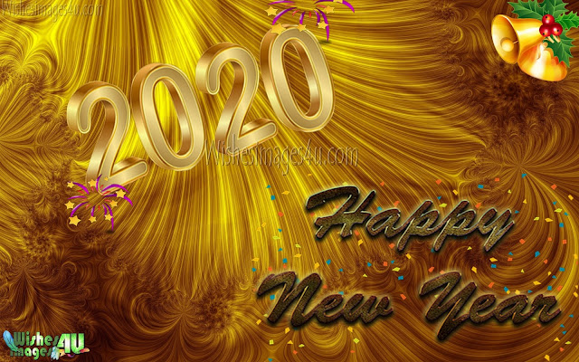 New Year 2020 Golden Background Wallpapers Download Free