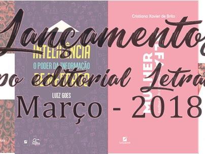 [Lançamentos de março] Grupo editorial letramento