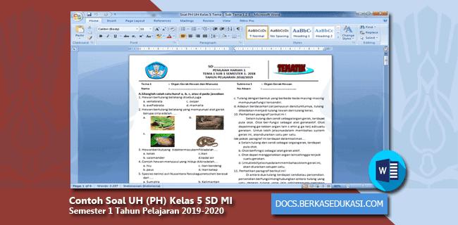Contoh Soal UH (PH) Kelas 5 SD MI Semester 1 Tahun Pelajaran 2019-2020