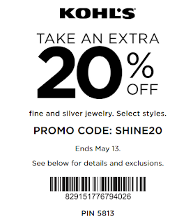 Kohls coupon 20% OFF Fine and Silver Jewelry