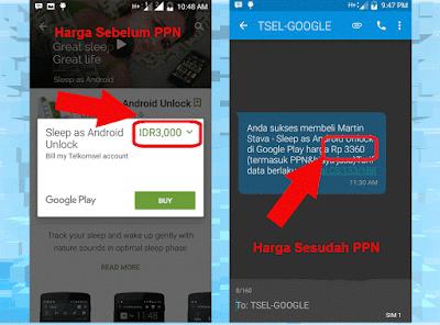 Perbandingan harga sebelum dan sesudah PPN Wd-Kira