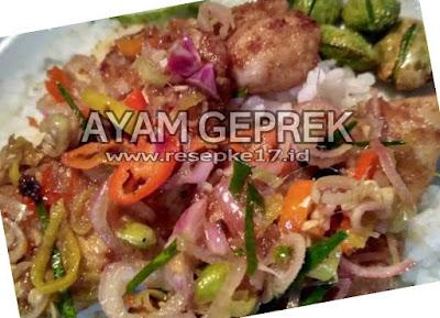 resep ayam geprek sambal matah