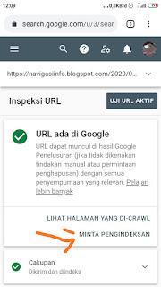 Cara cepat meng Index URL Link