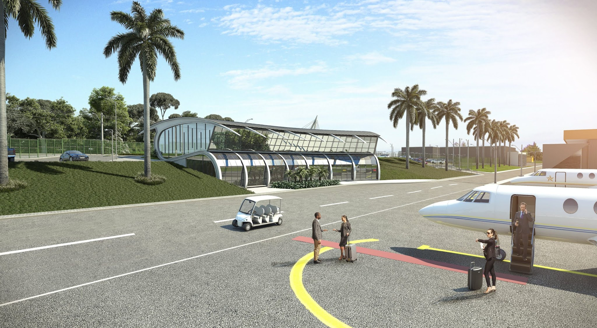 In Aparecida de Goiânia, Brazil, the First Airport Center in the Midwest Begins to be Built   MORE THAN FLY