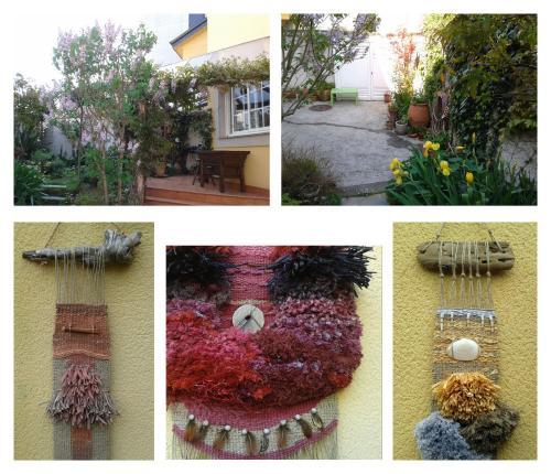 Tapices en el jardin