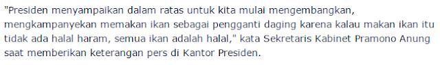 Gagal Jungkir balikan Harga, Presiden Minta Menteri Kampanyekan Makan Ikan Pengganti Daging - Commando