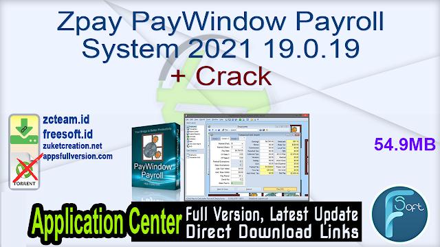 Zpay PayWindow Payroll System 2021 19.0.19 + Crack_ ZcTeam.id