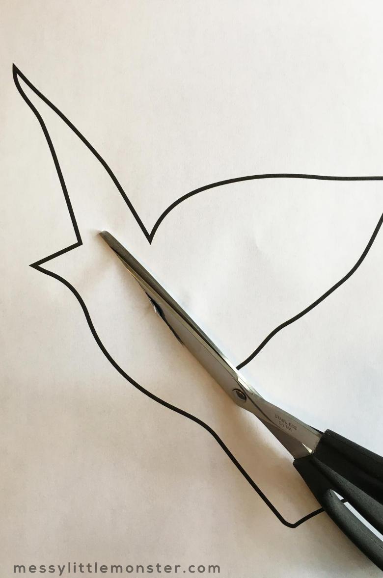 cut bird template printable