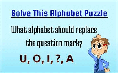 Alphabet Sequence Puzzle for Teens