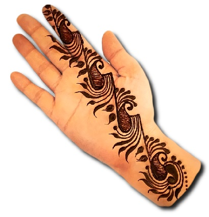 Unique Front Hand Mehndi Design