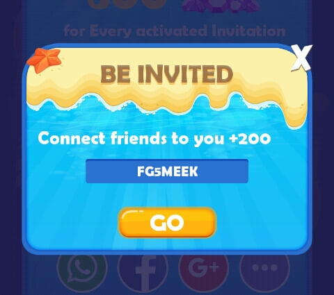 Langkah yang pertama yaitu memasukkan kode refferal teman. Anda akan memperoleh 200 Diamond jika berhasil memasukkan Kode Refferal.