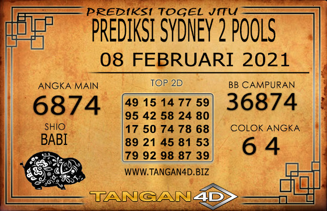 PREDIKSI TOGEL SYDNEY2 TANGAN4D 08 FEBRUARI 2021
