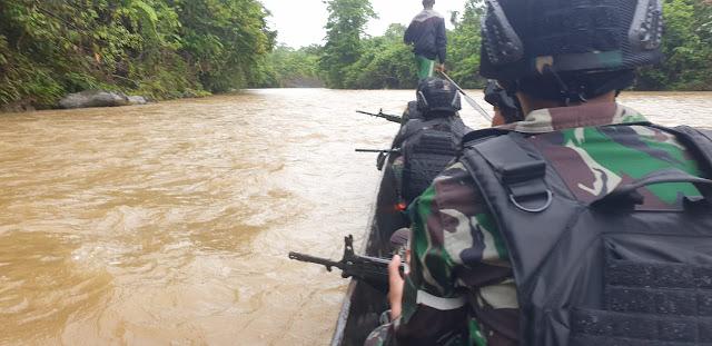 Prajurit YR 509 Kostrad Tempuh 98 KM Untuk Menjaga Tapal Batas RI-PNG