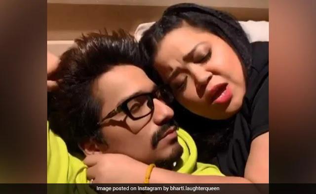 भारती सिंह सोते हुए पति संग कर रही थीं रोमांस, तभी अचानक हुआ कुछ ऐसा...देखें Video