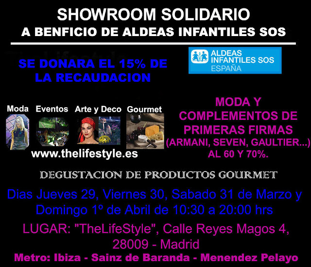 SHOWROOM SOLIDARIO A BENEFICIO DE ALDEAS INFANTILES SOS.