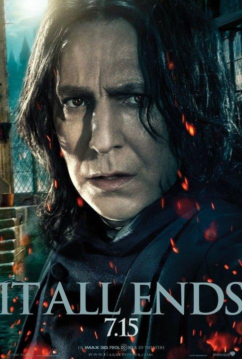 Alan Rickman como Snape en Harry Potter y las reliquias de la muerte Parte II