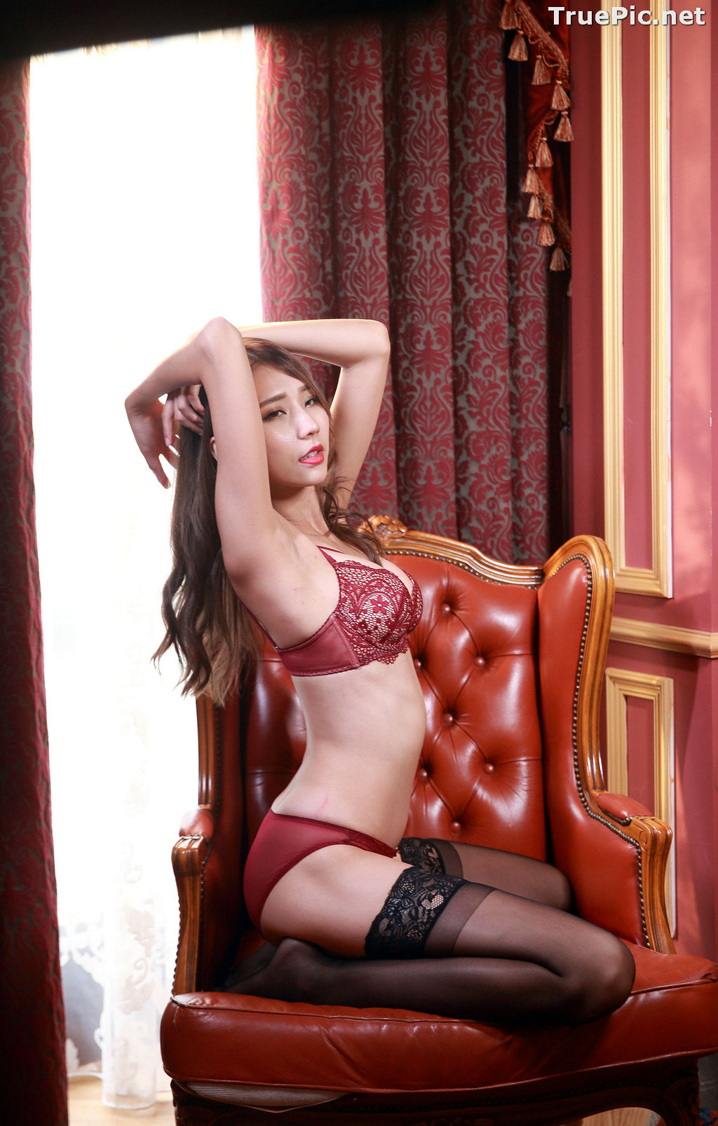 Image Taiwanese Long Legs Model - 黃韻斐 - Sexy Girl In Lingerie At Room - TruePic.net - Picture-9