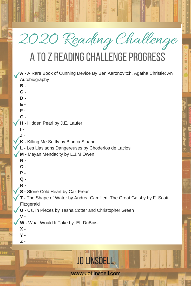 2020 Challenges: February Update The A to Z Reading Challenge