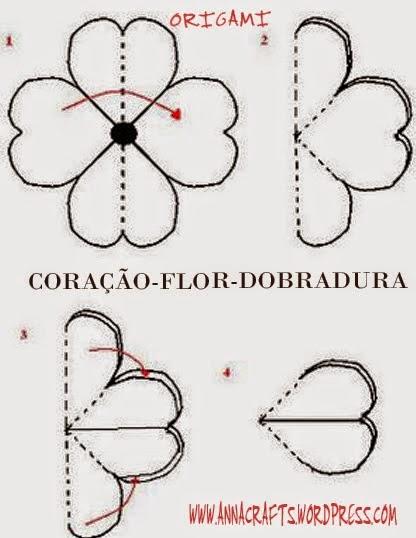 Como fazer dobraduras de flores, origami de flores, dobraduras de flores para a primavera