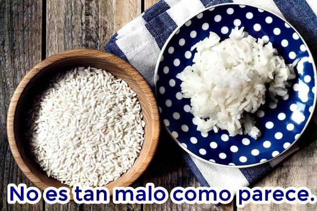 El arroz blanco no te hará engordar sí o sí