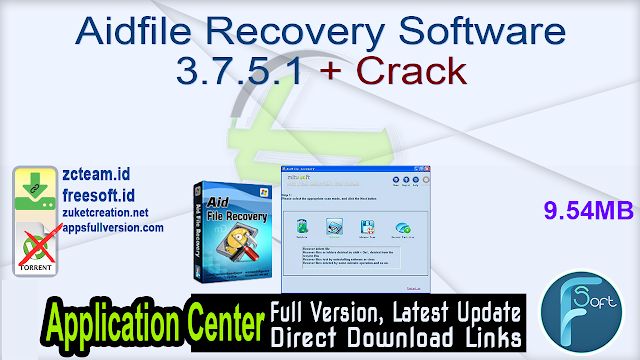 Aidfile Recovery Software 3.7.5.1 + Crack_ ZcTeam.id