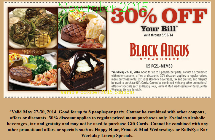 If you've got a craving for Black Angus Steakhouse, save yourself a little extra money using one of these 8 coupons in December. To bring you the best discounts possible, this list of offers is always being updated. For all of your steakhouse favorites at affordable prices, stop in at Black Angus.