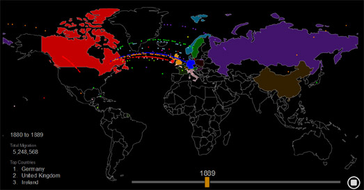 Maps Mania The History Of US Immigration Population - Immigration map us