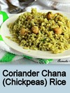Coriander Chana/Chickpeas Rice